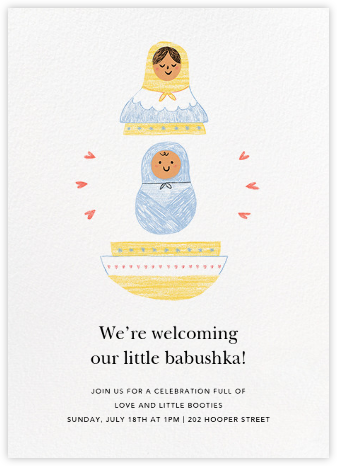 Nested and Ready - Dawn - Paperless Post - Baby Shower Invitations