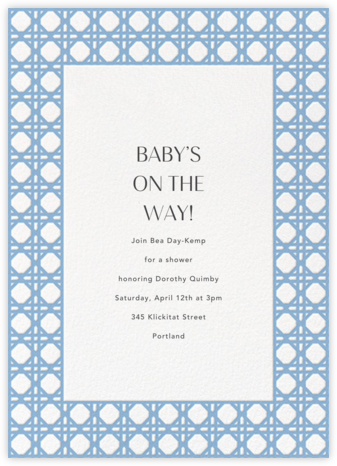 Rattan - Spring Rain - Paperless Post - Baby Shower Invitations