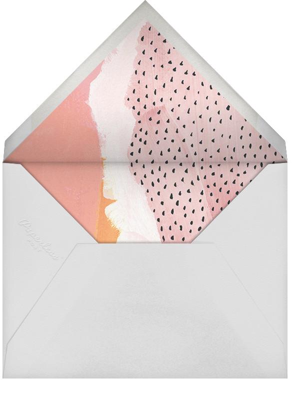 Brushed Drops (Stationery) - White/Tundra - Ashley G - Personalized stationery - envelope back
