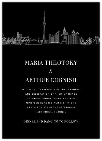 Toronto Skyline View (Invitation) - Black/White | null