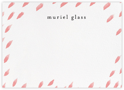 Brushed Drops (Stationery) - White/Blossom - Ashley G - Personalized Stationery