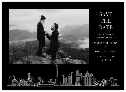 Toronto Skyline View (Photo Save the Date) - Black/White | null