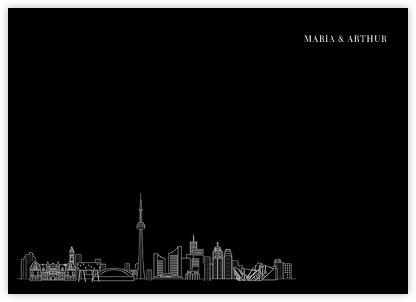 Toronto Skyline View (Stationery) - Black/White | null