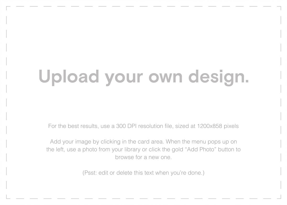 Custom (Two-Sided Horizontal) - Paperless Post - Upload your own