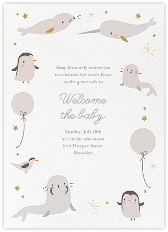 Arctic Circle - Little Cube - Baby shower invitations