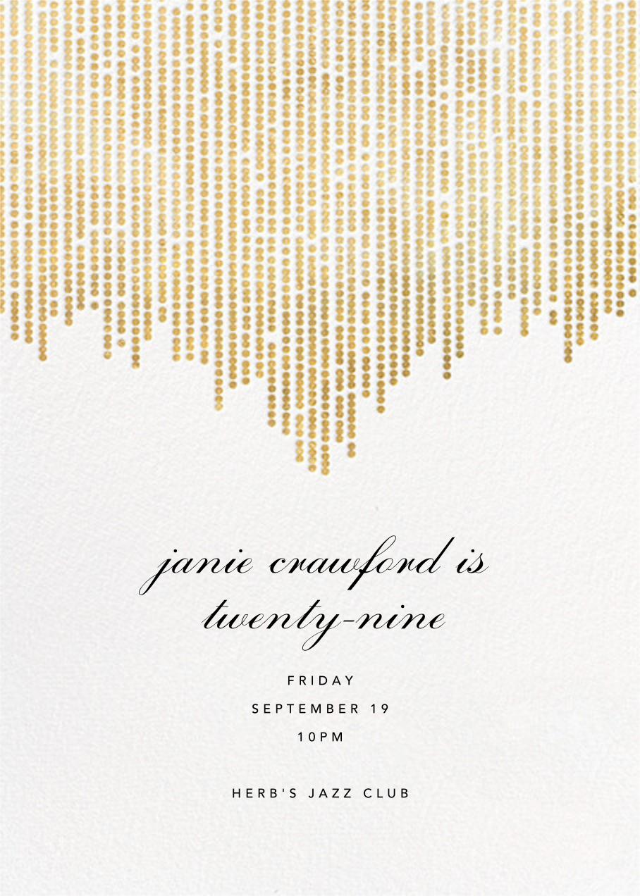 Josephine Baker - White/Gold - Paperless Post - Adult birthday invitations