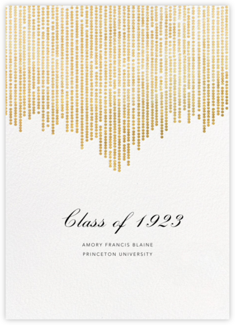 Josephine Baker - White/Gold - Paperless Post - Graduation Announcements
