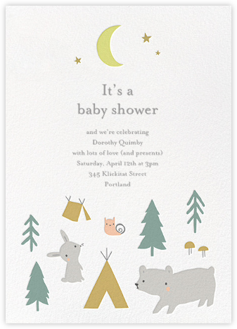 Campground Crew - Little Cube - Woodland Baby Shower Invitations