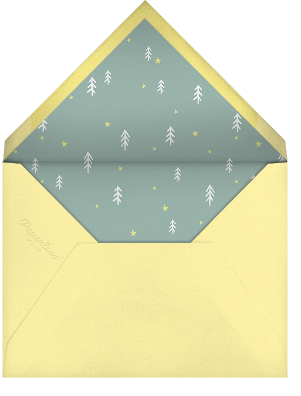 Campground Crew - Little Cube - Woodland baby shower invitations - envelope back