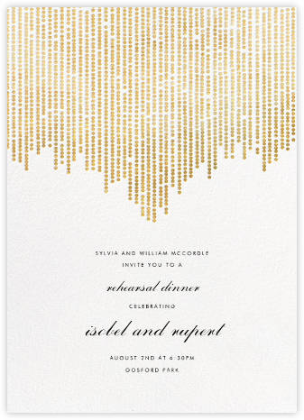 Josephine Baker - White/Gold - Paperless Post - Wedding Weekend Invitations