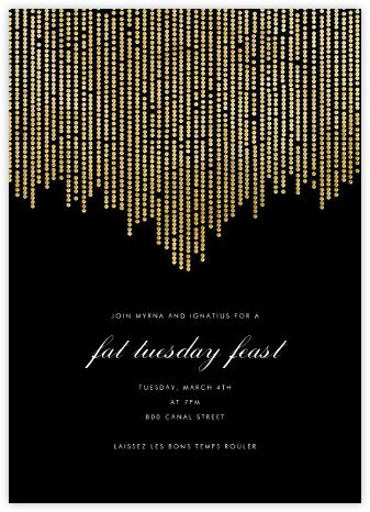 Josephine Baker - Black/Gold - Paperless Post - Mardi Gras invitations