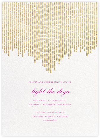 Josephine Baker - White/Gold - Paperless Post - Diwali invitations