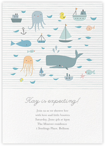 Moby and Co. - Little Cube - Baby Shower Invitations