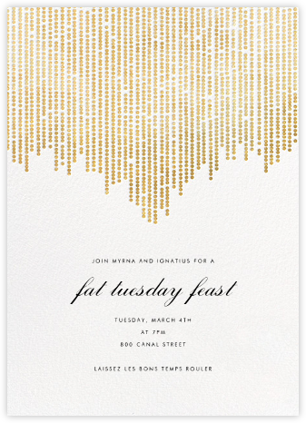 Josephine Baker - White/Gold - Paperless Post - Mardi Gras invitations