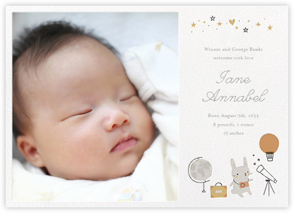 Birth announcements online at Paperless Post – Birth Announcement Card
