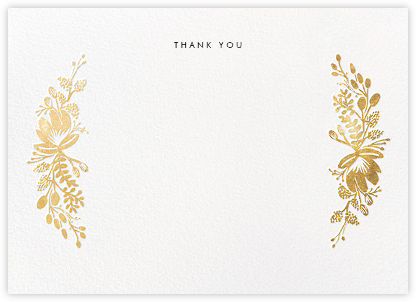 Floral Silhouette (Stationery) - Gold - Rifle Paper Co. - Wedding thank you notes