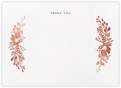 Floral Silhouette (Stationery) - Rose Gold | horizontal