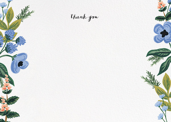 August Herbarium (Stationery) - Rifle Paper Co. - Wedding thank you notes