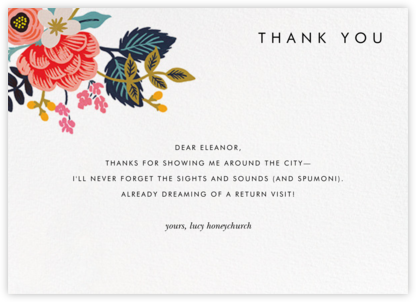 Birch Monarch Suite (Thank You) - Rifle Paper Co. - Online thank you notes