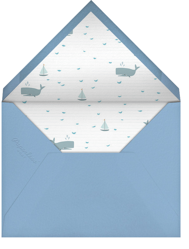 Moby and Co. (Photo) - Little Cube - Baby boy announcements - envelope back