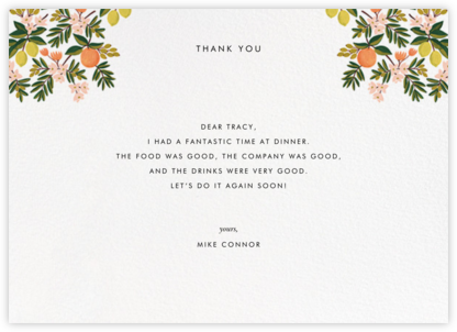 Citrus Orchard Suite (Thank You) - White | horizontal