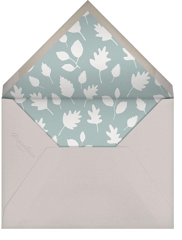 Foxy's Forest Party - Bondi - Little Cube - Woodland baby shower invitations - envelope back