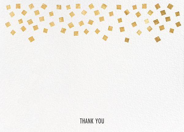 Fette (Stationery) - White/Gold - Kelly Wearstler - Wedding thank you notes