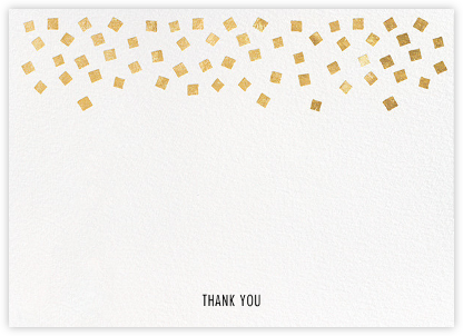 Fette (Stationery) - White/Gold - Kelly Wearstler - Wedding thank you notes
