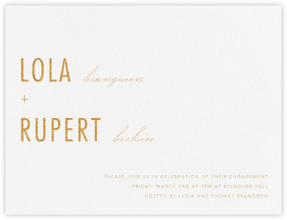 Somme I - Gold - Paperless Post - Engagement party invitations