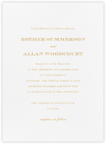 Maidstone (Invitation) - Gold - Crane & Co. - Classic wedding invitations
