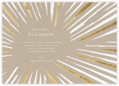 Amuse - Kelly Wearstler - Adult Birthday Invitations