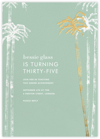 Baja - Mint - Kelly Wearstler - Summer entertaining invitations
