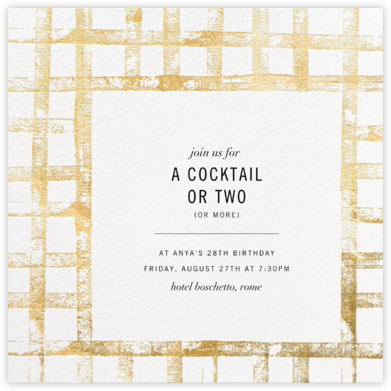 Glint - Kelly Wearstler - Adult Birthday Invitations