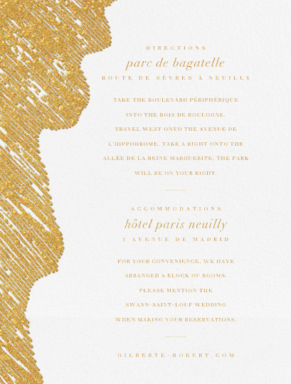 Glisten (Invitation) - Gold - Kelly Wearstler - All - insert front