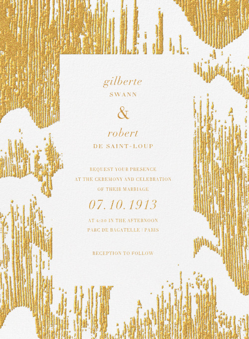Glisten (Invitation) - Gold - Kelly Wearstler - Kelly Wearstler wedding