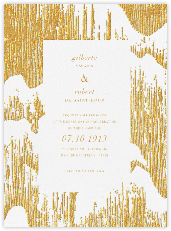 Glisten (Invitation) - Gold - Kelly Wearstler - Modern wedding invitations