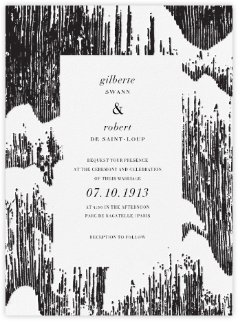 Glisten (Invitation) - Black - Kelly Wearstler - Modern wedding invitations