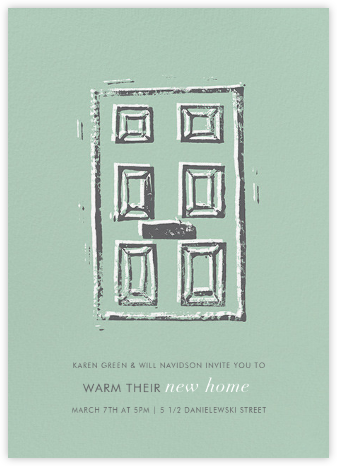 Impression - Mint - Kelly Wearstler - Housewarming party invitations