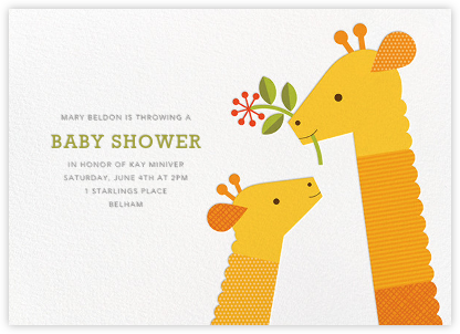 Tall Tails - Petit Collage - Baby shower invitations