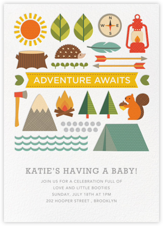 Forest Quest - Petit Collage - Woodland Baby Shower Invitations