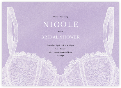 Intimate Situation - Wisteria - Paperless Post - Bridal shower invitations