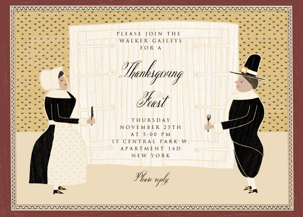Hungry Pilgrims Invite - Paperless Post - Thanksgiving invitations