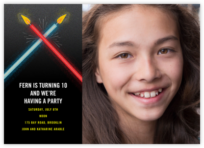 Lightspeed Photo - Paperless Post - Online Kids' Birthday Invitations