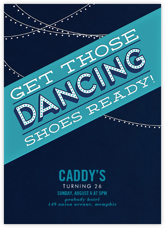 Those Dancing Shoes - Crate & Barrel - Birthday invitations