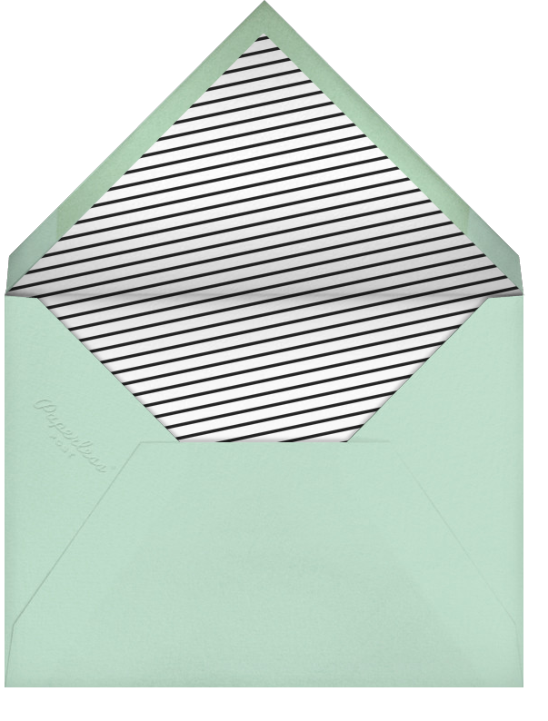 Seal The Date Tall - Emerald - Paperless Post - Engagement party - envelope back