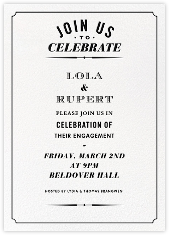Seal The Date Tall - Black - Paperless Post - Engagement party invitations