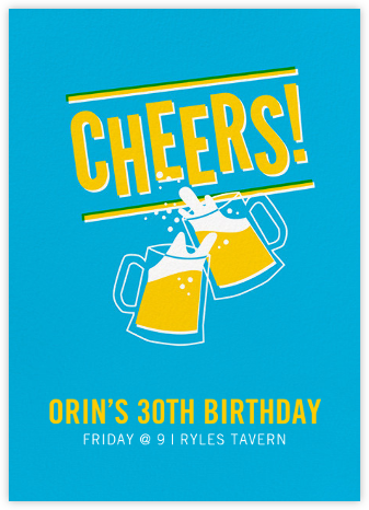 Cheers Beers (Invitation) - Hello!Lucky - Adult Birthday Invitations