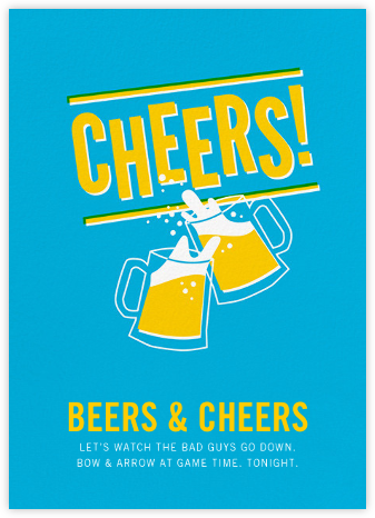 Cheers Beers (Invitation) - Hello!Lucky - Sporting Event Invitations