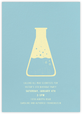 ‪Erlenmeyer Flask‬ - Light Blue - Paperless Post - Online Kids' Birthday Invitations