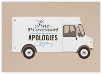 Apology - Delivery Truck - Paperless Post - Belated Birthday Cards